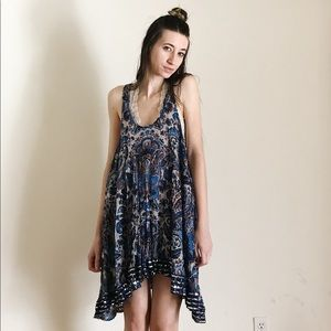Free People FP One Sequined Trapeze Slip Dress